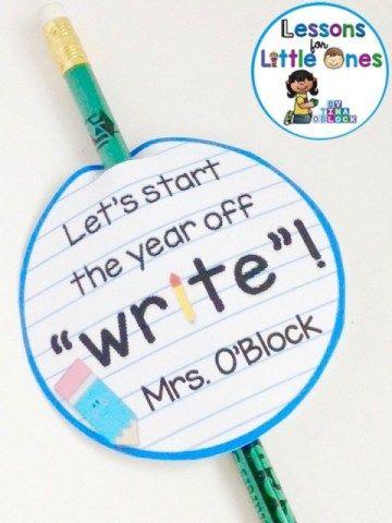 Back to School, Open House, Meet the Teacher Student Gift Ideas & Gift Tags #meettheteacherideas
