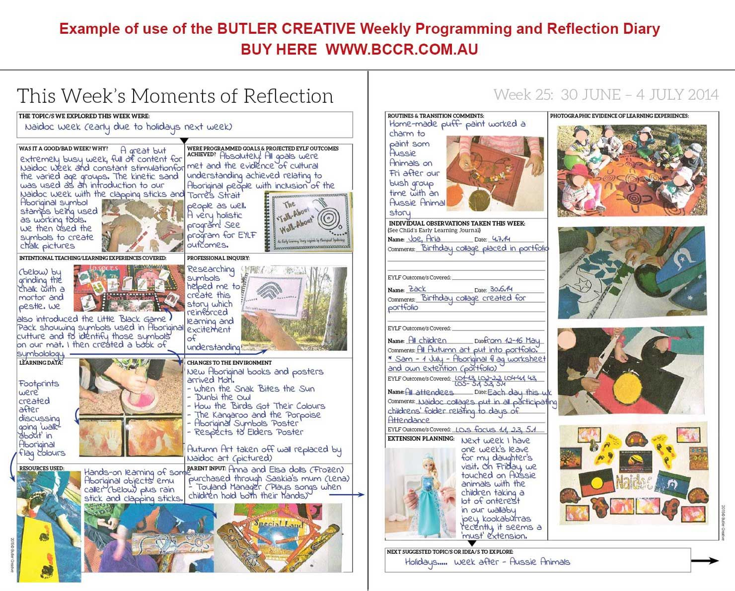 reflective journal in child care centre Daily reflection child care wiradjiri preschool child care centre.