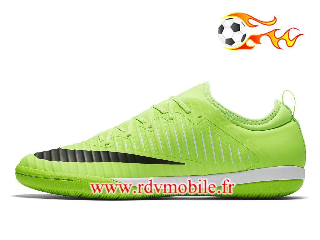 Nike MercurialX Finale II IC - Chaussure De Football Officiel 2018 Pour Homme  Vert/Noir
