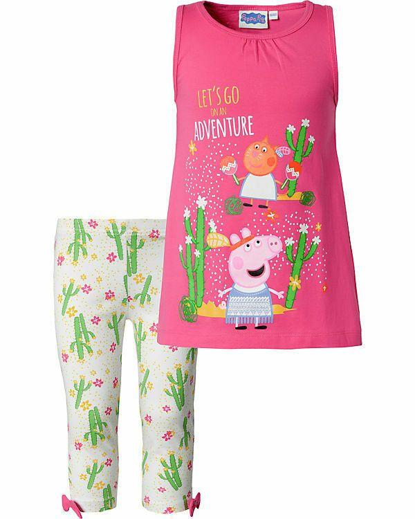 buy popular b3ee1 c9eaa Peppa Pig top e leggings capri per bambina   ABBIGLIAMENTO ...