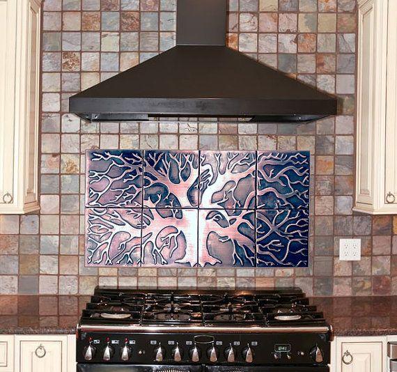 Copper Tiles Kitchen Backsplash 8 Metal Tiles Copper Tiles