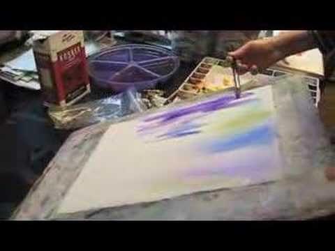 watercolor salt technique