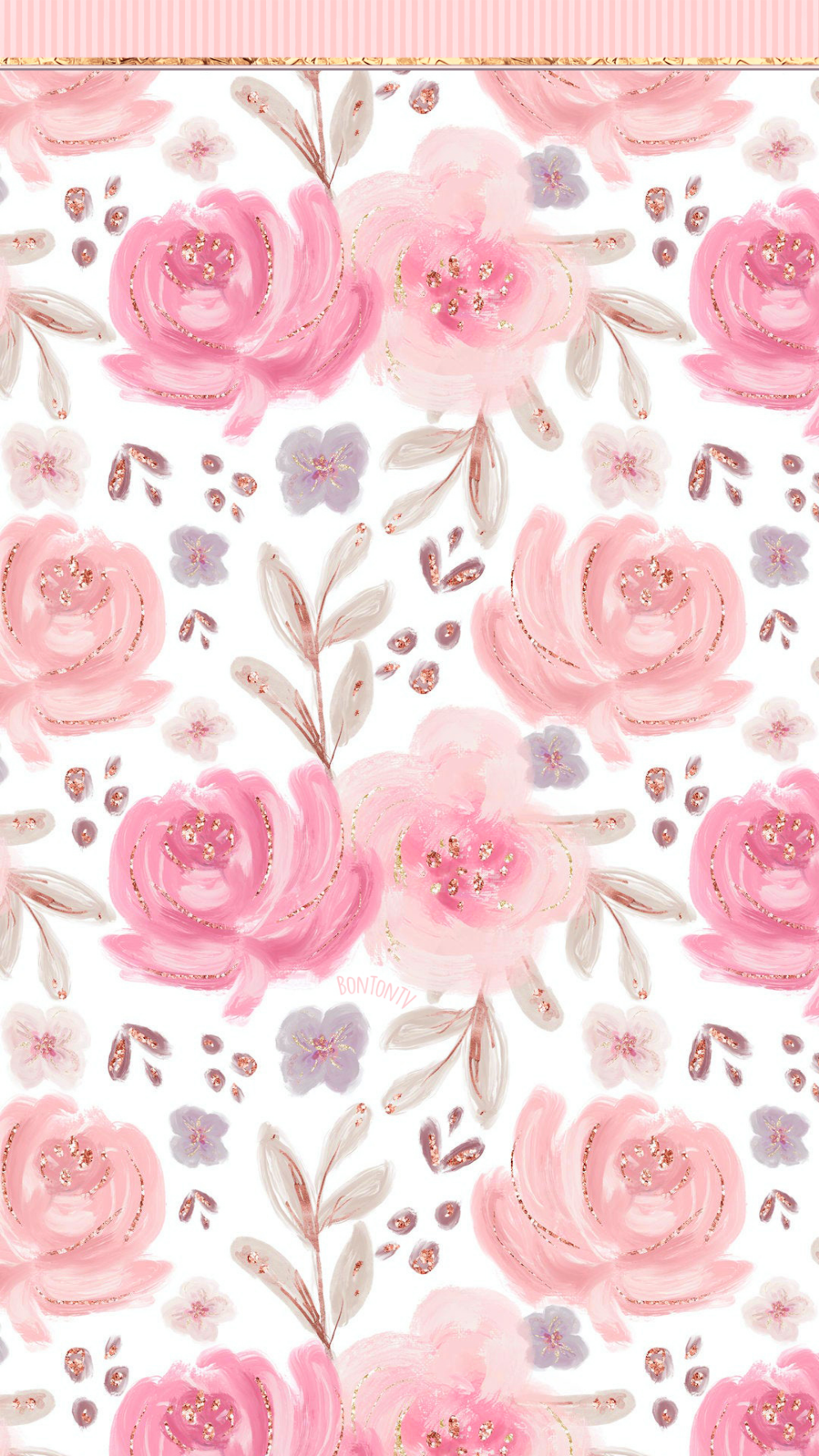 Phone Wallpapers Hd Glitter Roses Watercolor By Bonton Tv