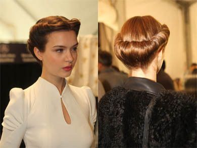 40s updo vintage hairstyles