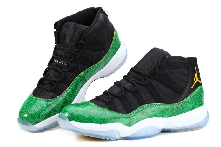 2015 Real Air Jordan 11 Shoes Green White