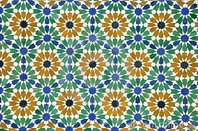 Morrocan tiles tiles azulejos decoraci n de unas y - Telas marroquies ...