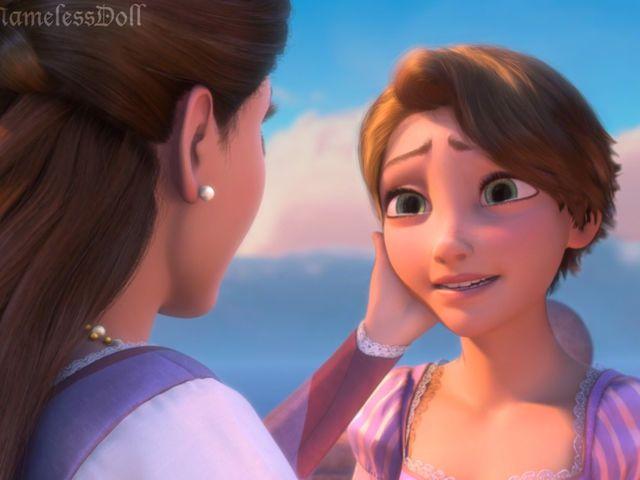 These Disney Princesses With Short Hair Are Almost Unrecognizable Rapunzel Short Hair Short Hair Styles Rapunzel