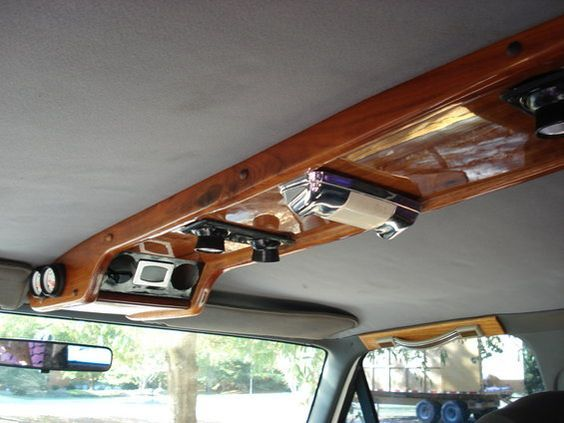 Homemade ceiling console | Custom car interior, Truck
