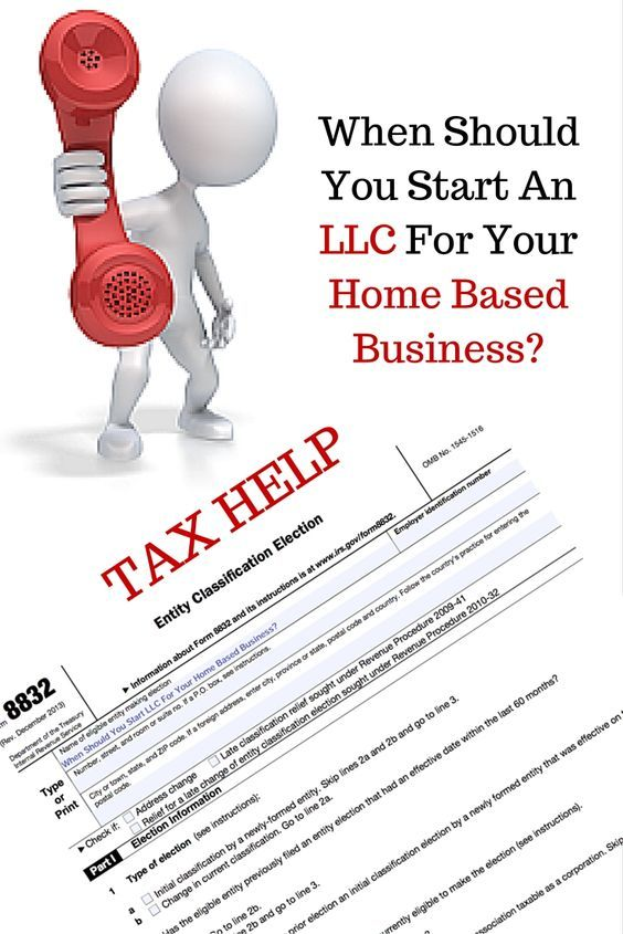 You should form an LLC right away when you start your home based ...