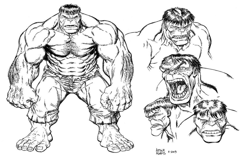 Hulk Inking Practice 3 By Stvnhthr Jpg 1112 719 Comic Book Artwork Comic Books Art Hulk Coloring Pages