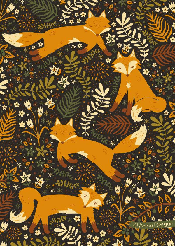 Collective Nouns Inspirational Work. Fox Tales by Anna Deegan, via Behance