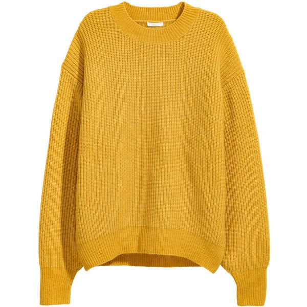 Rib-knit Sweater $34.99 ($35) ❤ liked on Polyvore featuring tops ...