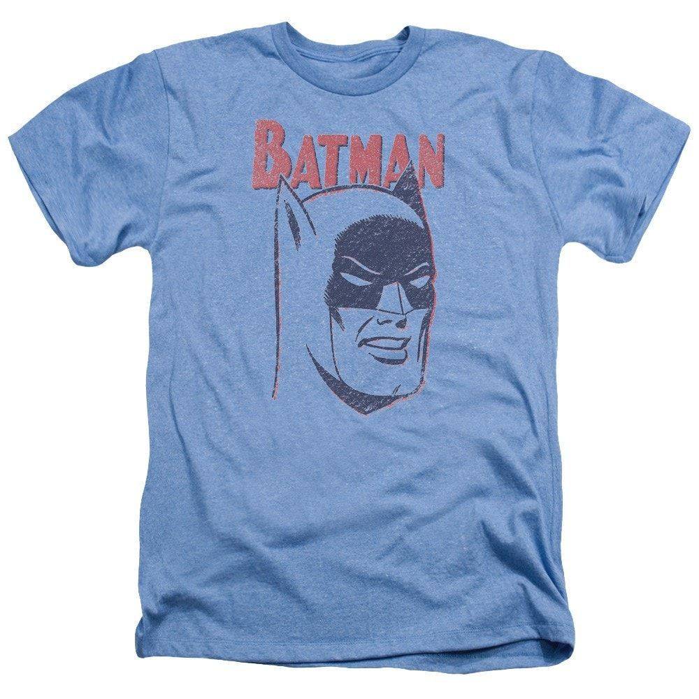 Batman Crayon Man Adult Regular Fit Heather T-Shirt