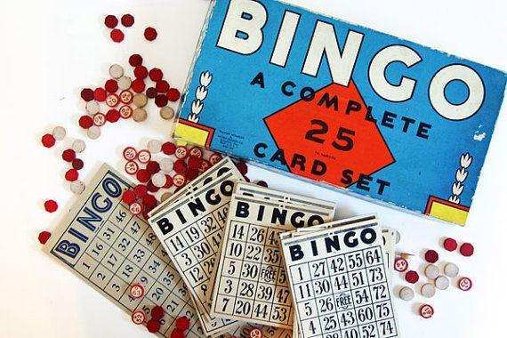 1936 bingo game - vintage