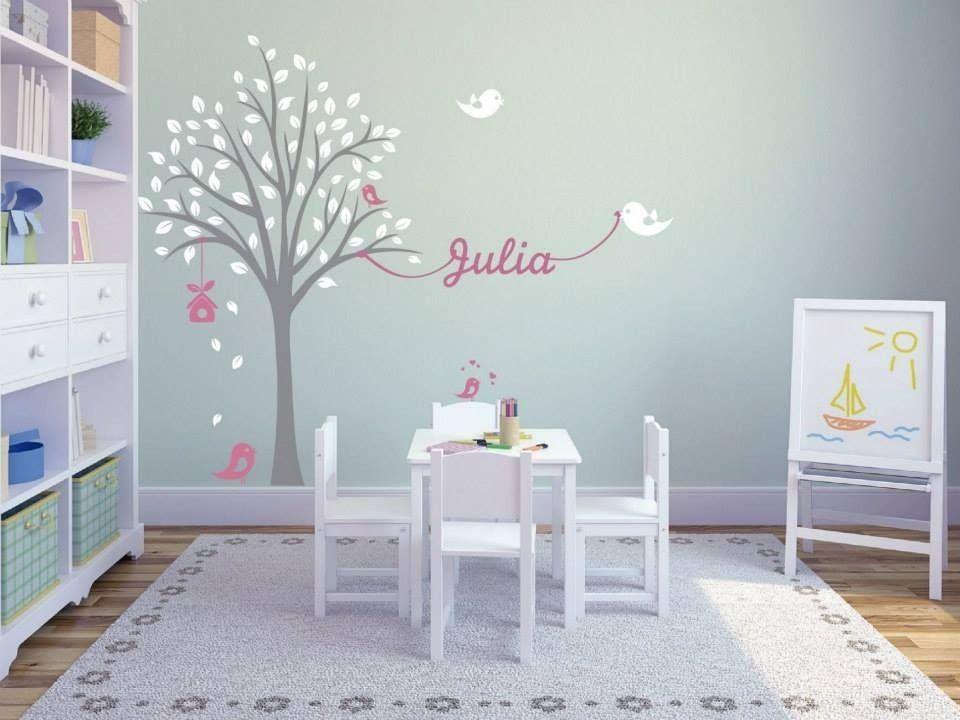 Vinilo decorativo infantil arbol nombre a eleccion 1 for Decoracion habitacion infantil