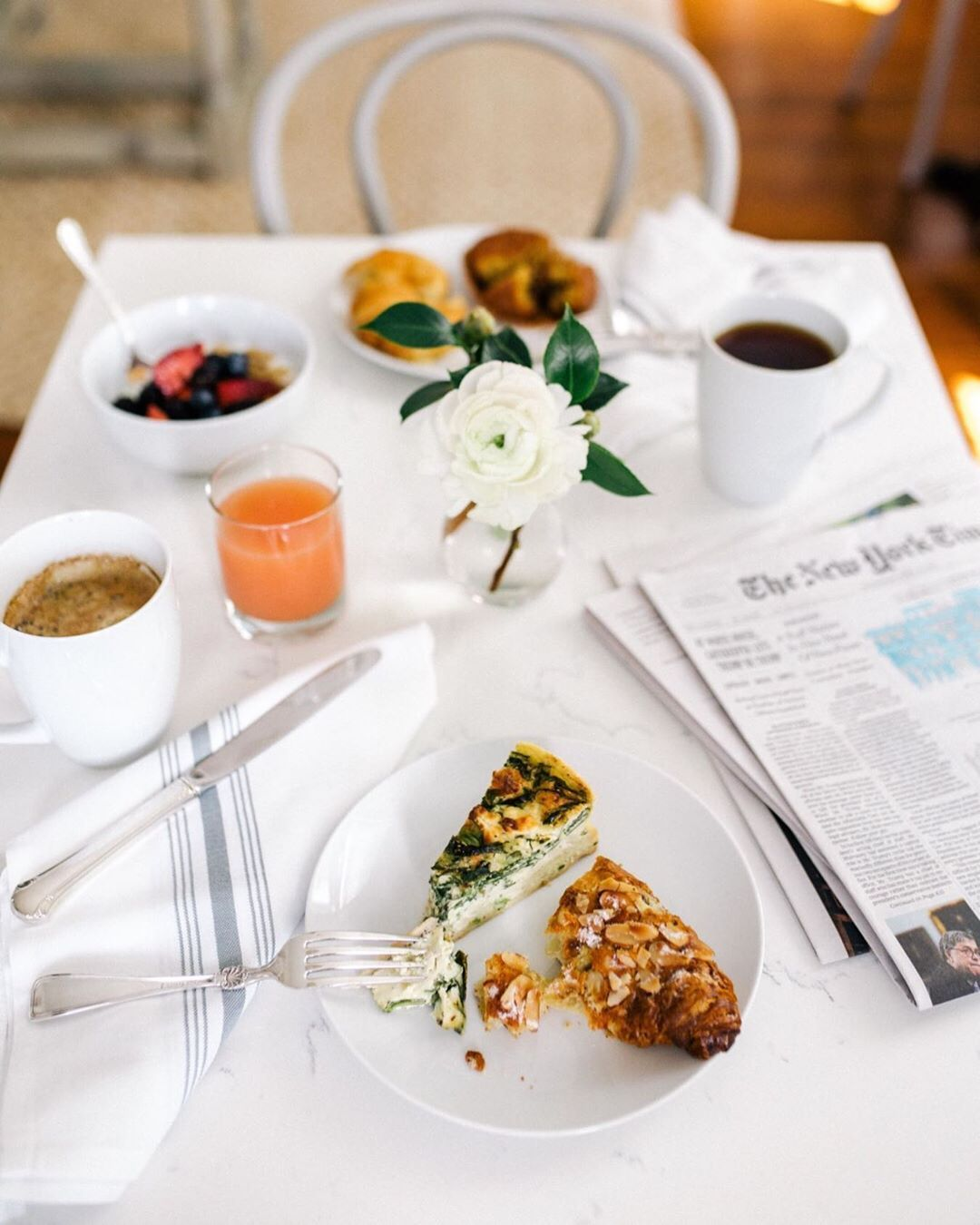 Our favorite way to start a Sunday, or any day at the inn