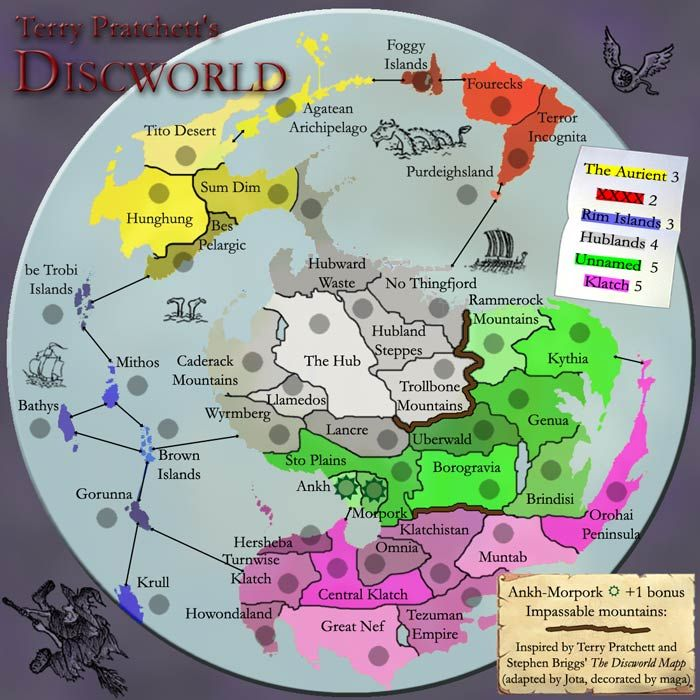 discworld map   Google Search | Terry Pratchett | Discworld map