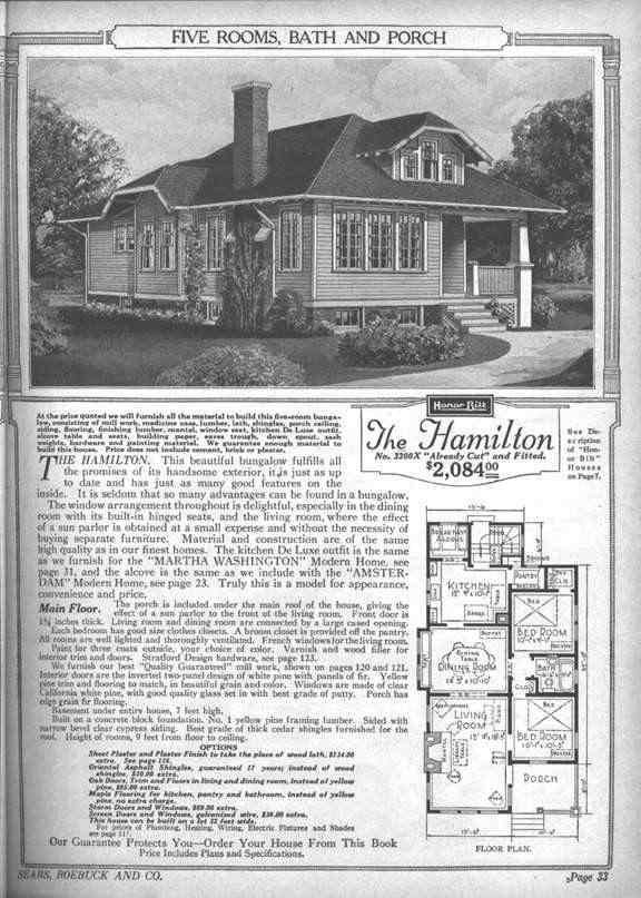 Sears Modern Home The Hamilton Craftsman House Vintage House Plans Craftsman Bungalows