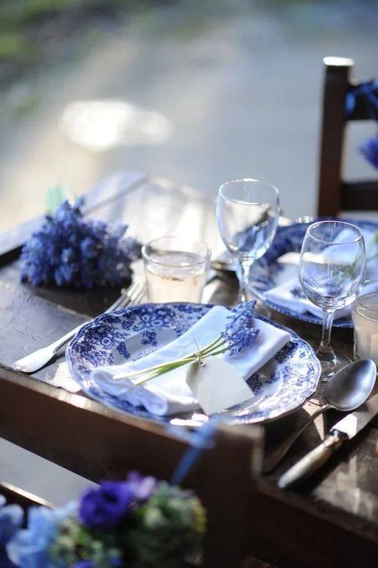 Seda y nacar blue beauty - Vajilla rustica ...
