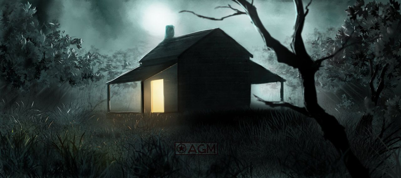 Image Result For Woods Shadow Box Night Spooky