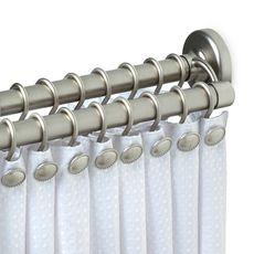 Zenith Satin Nickel Double Tension Shower Curtain Rod