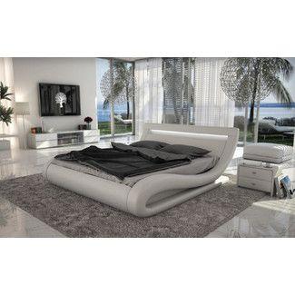 Wade Logan Belafonte Upholstered Platform Bed. Headboard ...