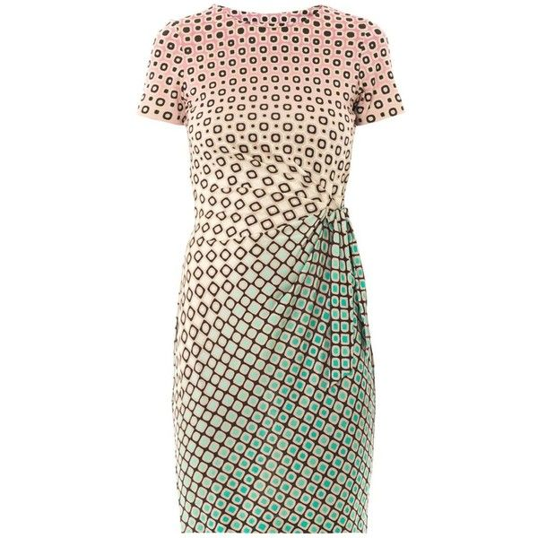 DIANE VON FURSTENBERG Zoe dress (61.750 HUF) ❤ liked on Polyvore featuring dresses, pnk print, pattern dress, pink print dress, pink graduation dresses, diane von furstenberg dresses i print dress