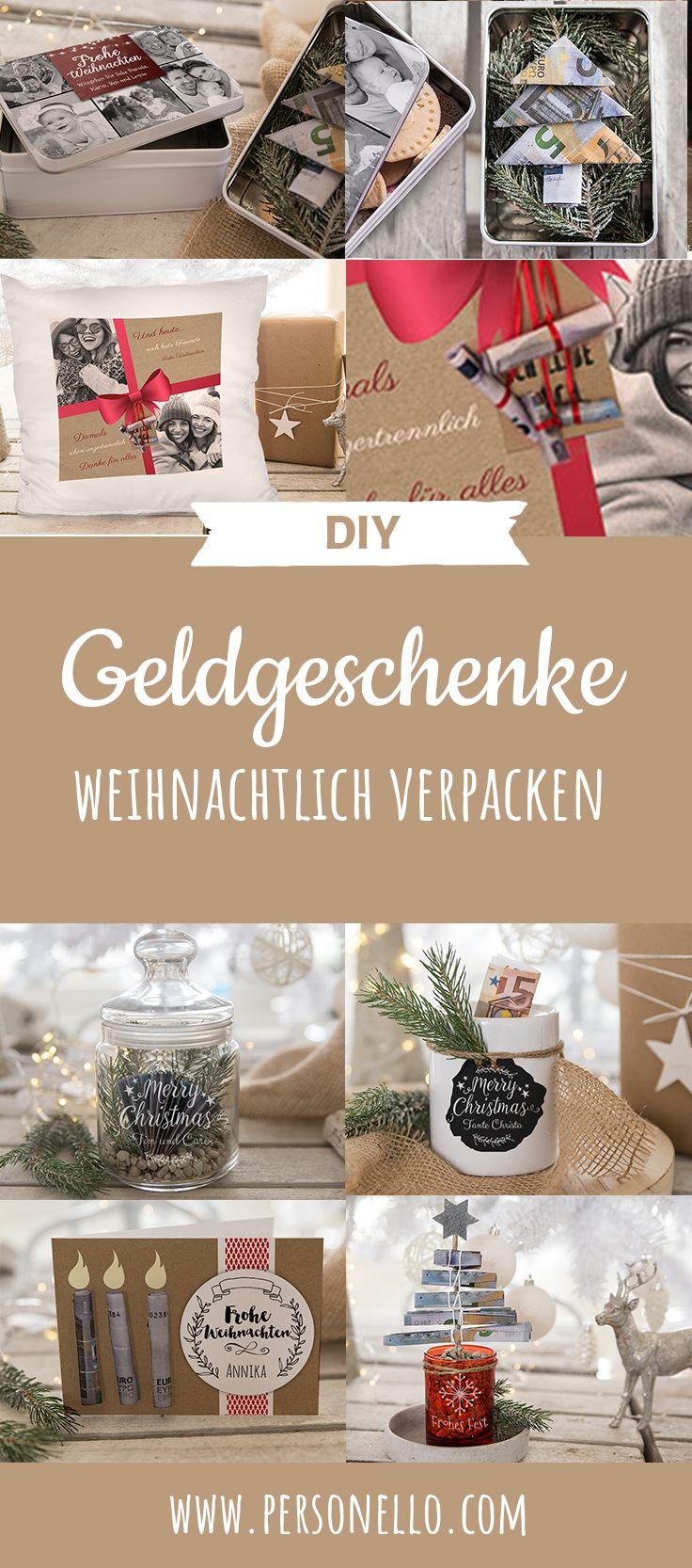Geldgeschenke Weihnachtlich Verpacken Weihnachten Naht Und Somit