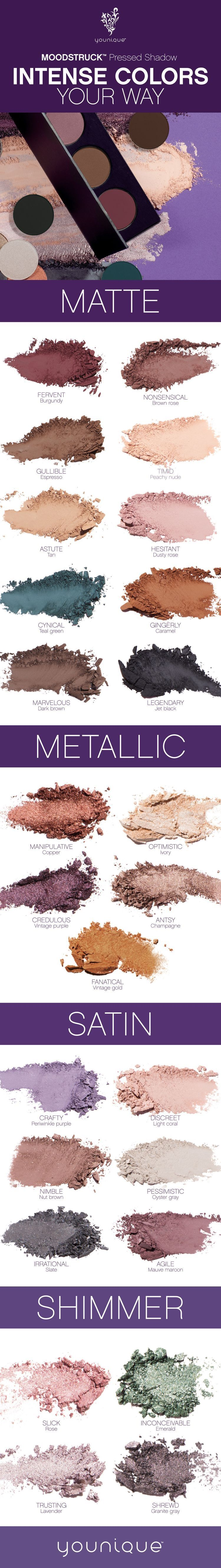 Brand new Younique customizable palettes or single pressed shadow colors  #youniquepressedshadows