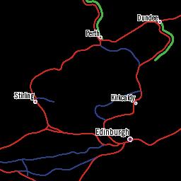 Carte Ferroviaire Andalousie.Carte Du Reseau Ferroviaire D Ecosse Indiquant Les