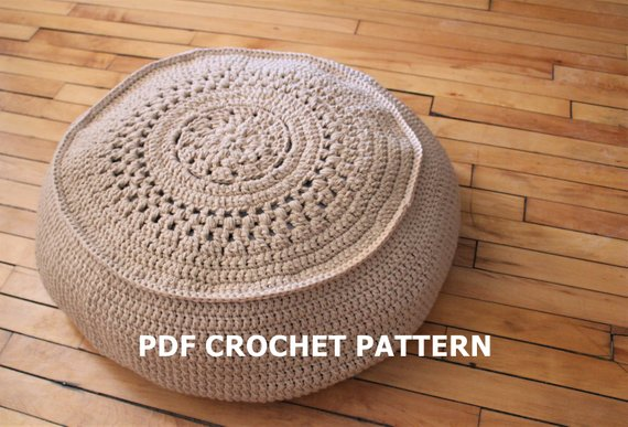 Stupendous Pattern Crochet Floor Cushion Pattern Easy Crochet Pouf Squirreltailoven Fun Painted Chair Ideas Images Squirreltailovenorg