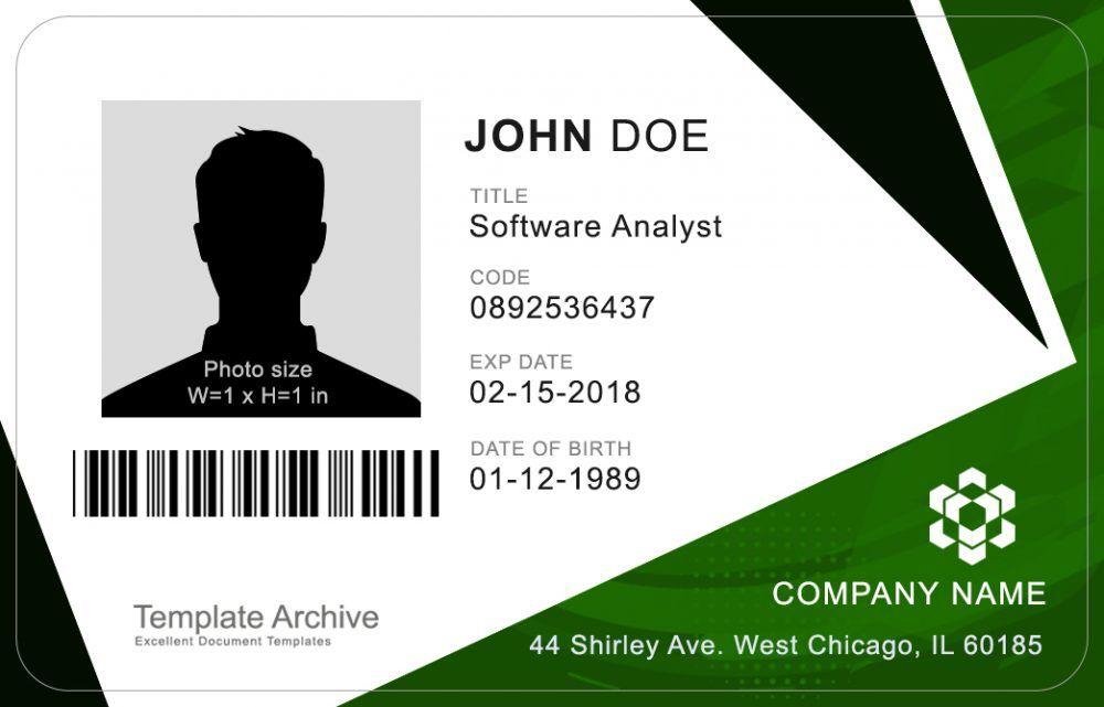 16 Id Badge Id Card Templates Free Id Card Template Card Templates Free Card Templates