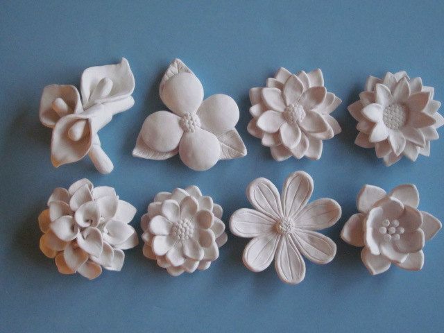 White Flower Bloom Wall Hanging Your Choice Ceramic