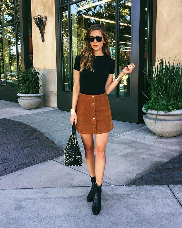 All about the cord mini skirt for fall  00e0f76b8703