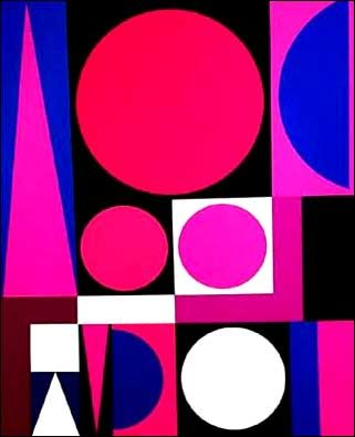 Auguste herbin geometric art pink blue miscellaneous for Auguste herbin