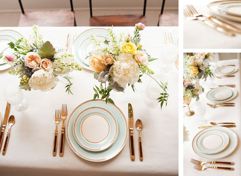 Wedding table setting - gold | TABLESCAPES | Pinterest | Gold ...