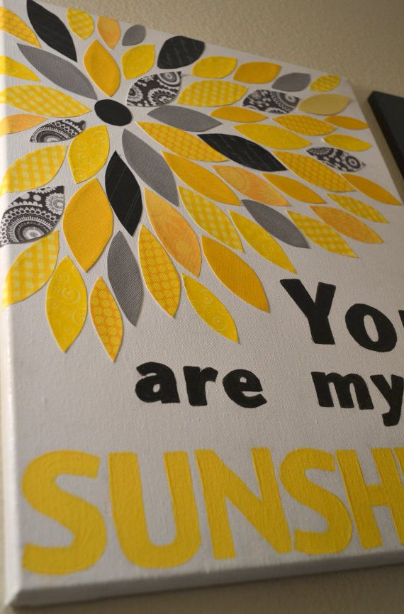 You Are My Sunshine Canvas Wall Decor by TreasuresbyBri on Etsy ...