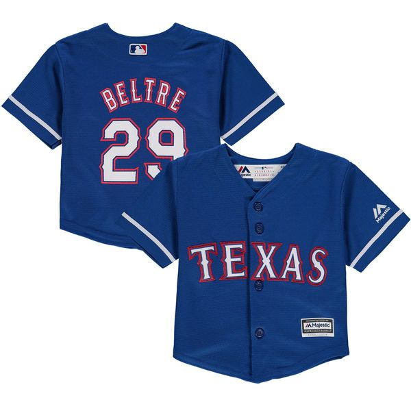 Infant Texas Rangers Adrian Beltre Majestic Royal Alternate Official Cool Base Player Jersey Texas Rangers Jersey Texas