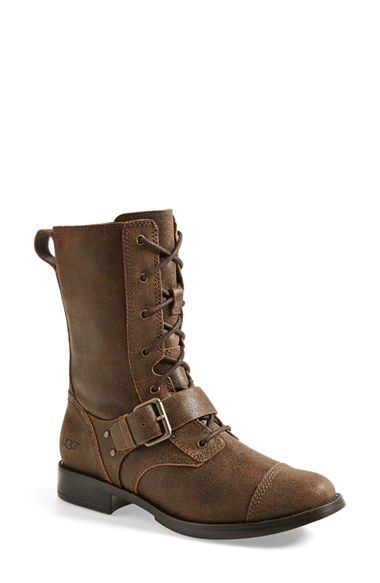 032bb133e7e8 UGG® Australia  Marela  Convertible Combat Boot (Women) at Nordstrom.com.  Vintage elements—like the cap-toe cut and weathered leather—add to the  tough
