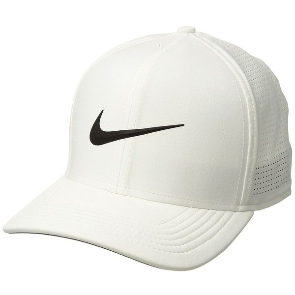 Nike Aerobill CLC99 Cap Perf (White Anthracite Black) Caps ( 35) ❤ liked on  Polyvore featuring accessories 063ee329addf