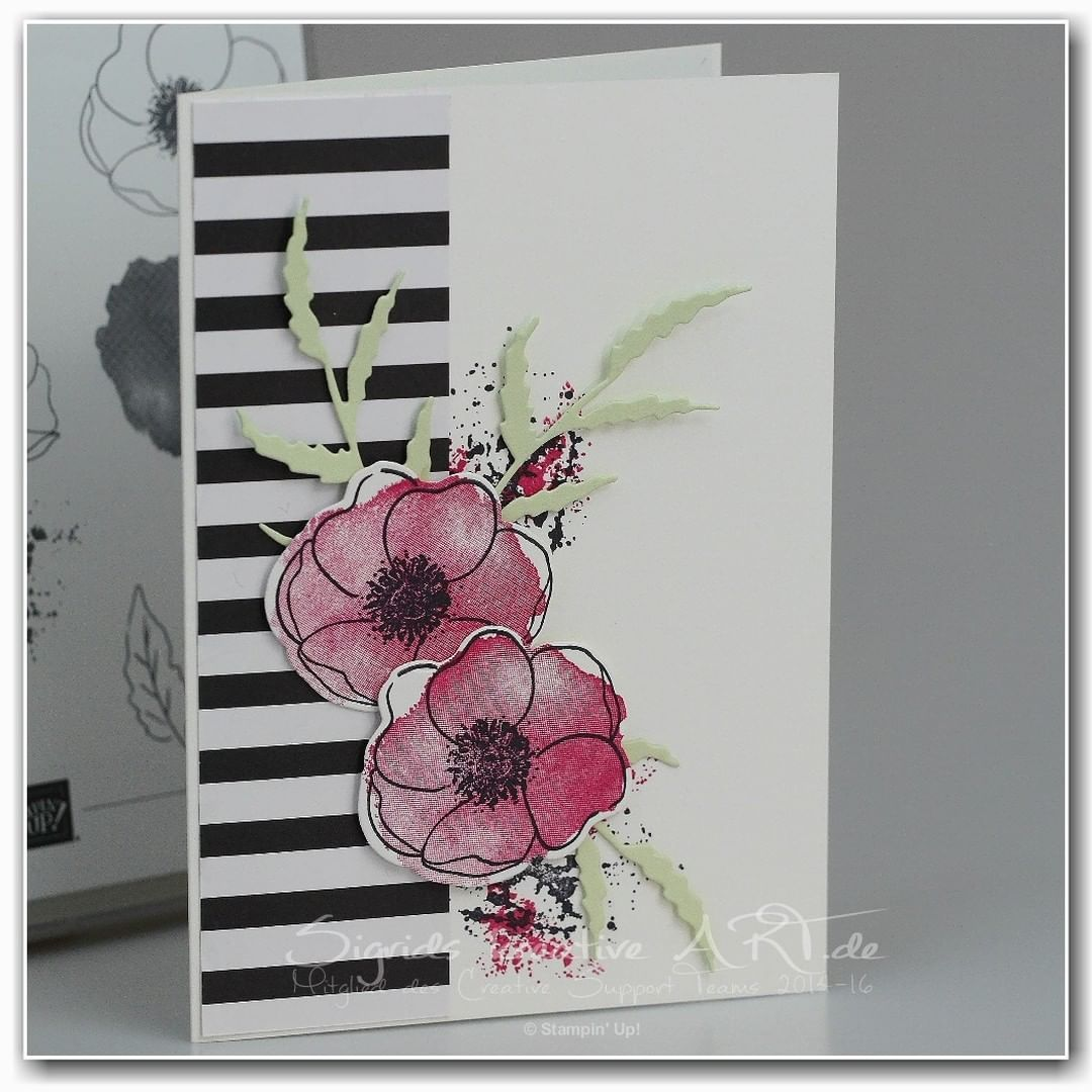 Stampin Up Painted Poppies In 2020 Floral Cards Poppy Cards Flower Cards