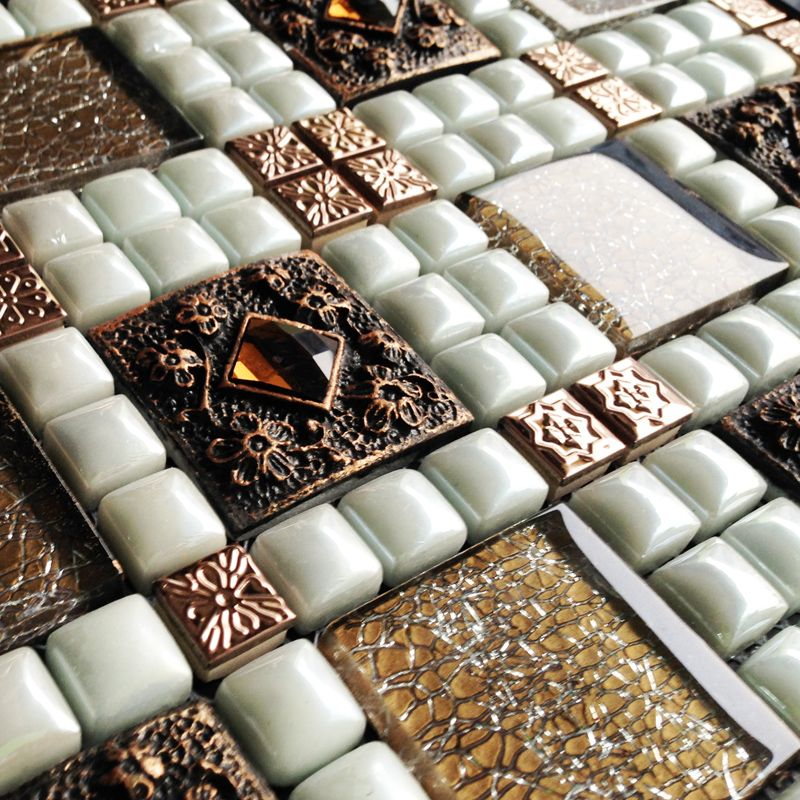 Wholesale Porcelain Square Mosaic Tile Design Porcelain Plated