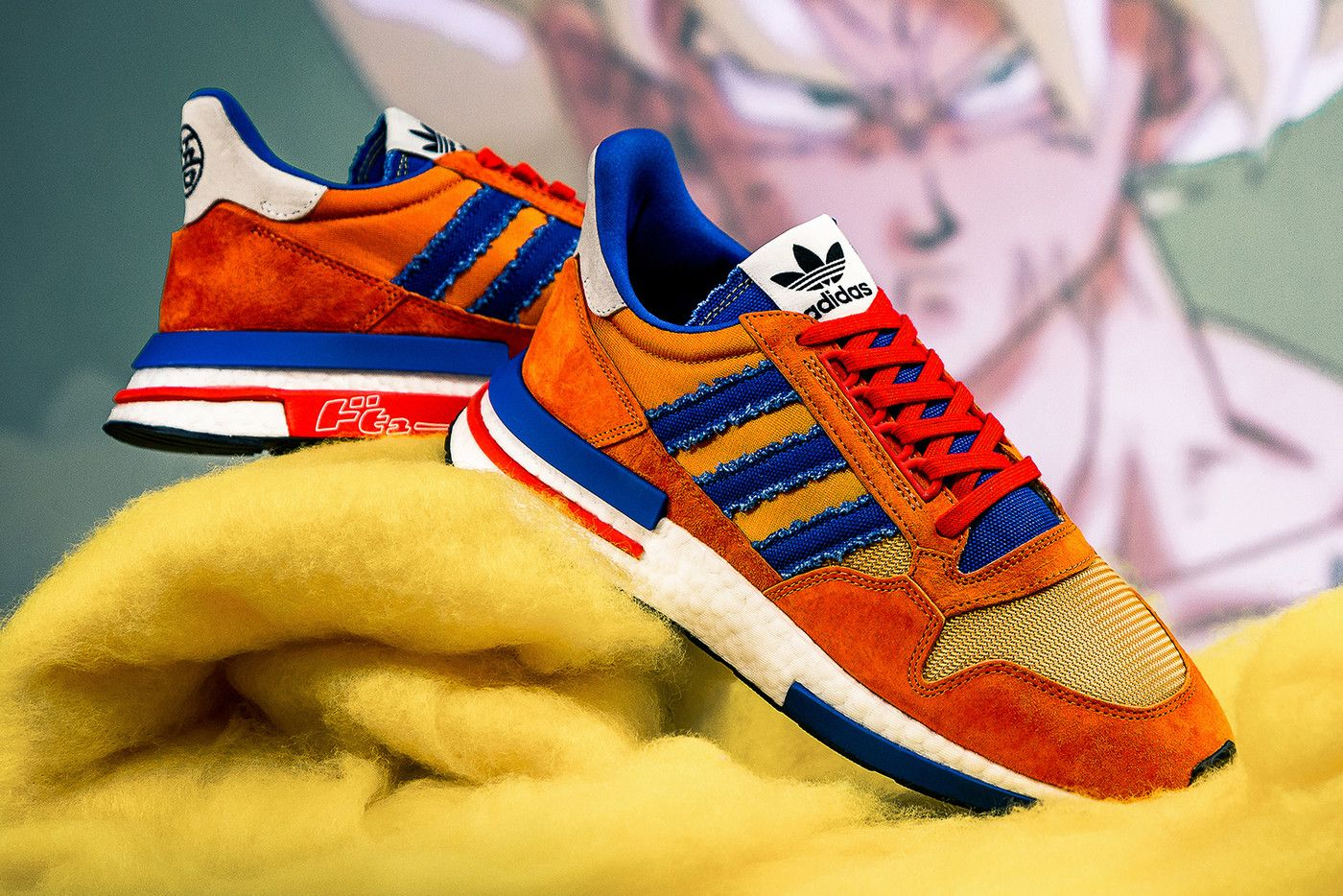uk availability 2a989 d431c adidas originals dragon ball z closer look zx 500 rm goku prophere cell  yung-1 frieza Deerupt