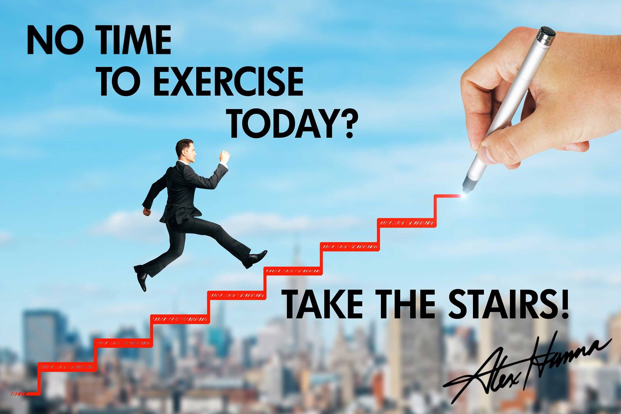 Good Morning! Today is National Take the Stairs Day! This