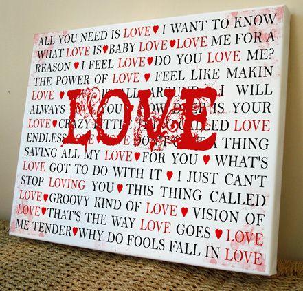Love Songs Canvas Art Print Http Www Artylicious Co Uk