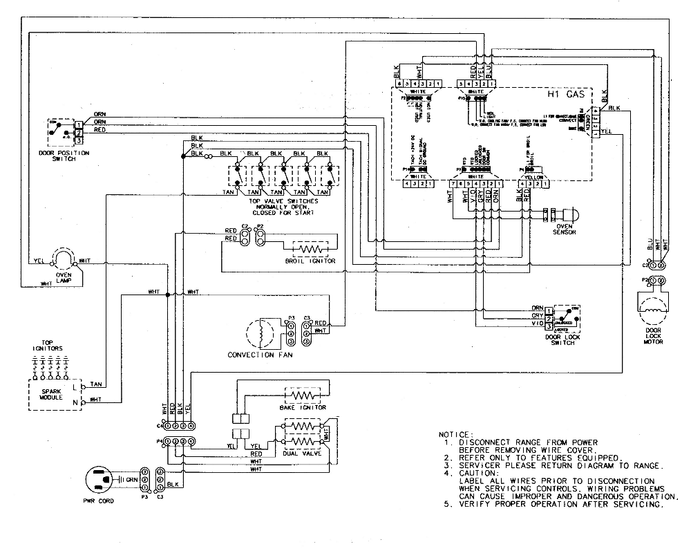 Electric Oven Wiring Diagram from i.pinimg.com