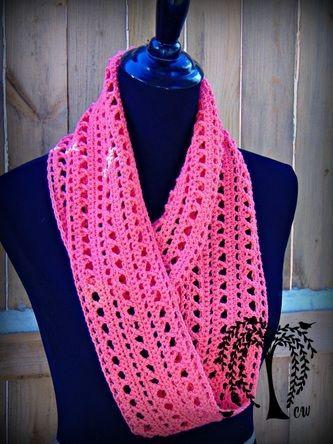 Spring Kisses Infinity Scarf- Free Crochet Pattern … | Pinteres…