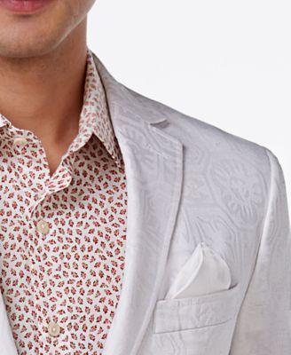 9bd19b60 Tallia Men's Big & Tall Slim-Fit White Tonal Geo Sport Coat - White ...