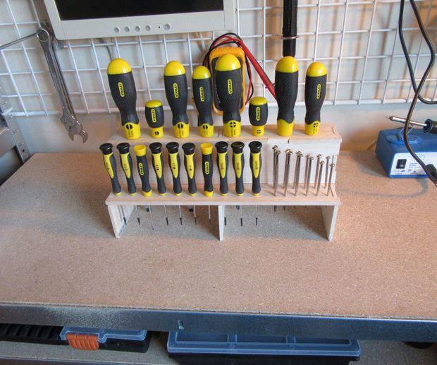 Screwdriver Organizer Power Tool Storage Tool Storage Diy Garage Storage