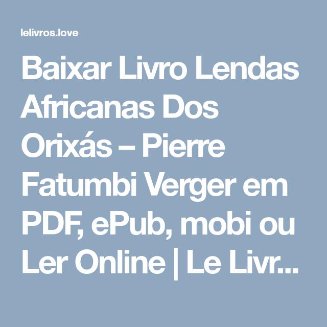 VERGER PIERRE PARA BAIXAR DE LIVROS